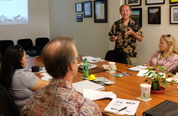 Instructor Jon Young at the HAPI Office