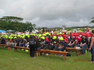CCD on Kauai - Students assemble to hear about what's in store for them.